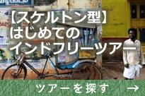 【スケルトン型】はじめてのインドフリーツアー