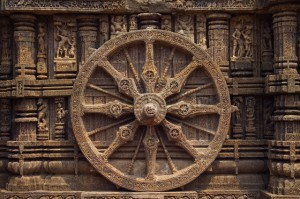 Detail of Stone Wheel on Sun Temple